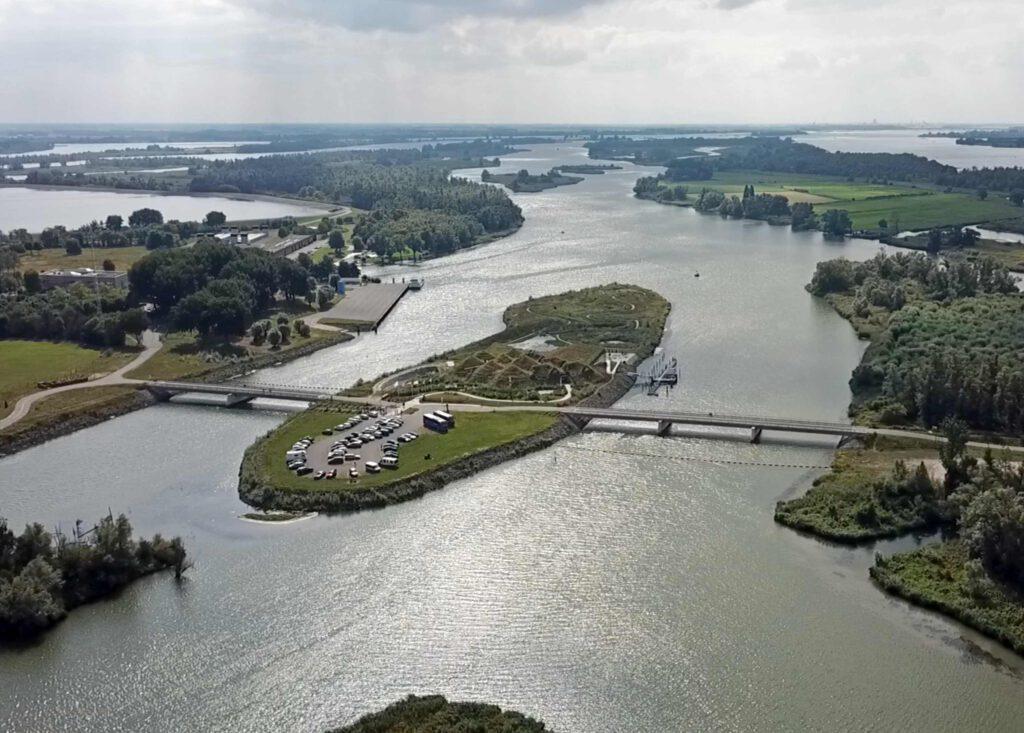 Vista aérea Parque Natural de Biesbosch